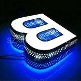 Neueste rostfreie Minimass-LED helle Zeichen-Rückseiten-leuchtendes Wort der Art-