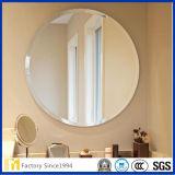 壁の装飾のための供給の1.8mm-6mm最上質の側面のガラス円形の斜めミラー