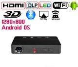 Mini proiettore caldo incorporato del DLP del Android di Bluetooth Beamer di uso della casa del proiettore del DLP del più nuovo modello Yi-601 2017 e di vendita del sistema di WiFi