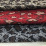 Шток ткани 3 шерстей жаккарда печати леопарда цветов