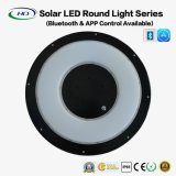 luz redonda solar de 30W LED con Bluetooth APP