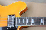 Musique de Hanhai/rétro guitare électrique jaune Semi-Creuse (ES-335)