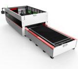 tagliatrice del laser della fibra di 1500W Raycus con la doppia Tabella
