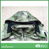 Jupe extérieure tactique militaire de Hoodie Softshell de garantie de camouflage