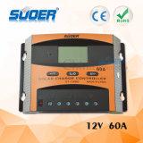 Suoerの工場価格の太陽料金の調整装置12V 60A PWMの太陽料金のコントローラ(ST-C1260)