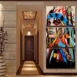 نوع خيش طبع فنّ ال [إيندينس] يريّش [بينتينغ كنفس] [برينت رووم] زخرفة طبق ملصقة صورة نوع خيش جدار فنية [مك-002]