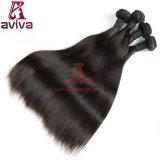100%の加工されていなく膚触りがよくまっすぐなバージンのインドの人間の毛髪