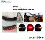 スマートなヘルメットライト電池のタイプ無線回転軽い無線ブレーキがかかるライト