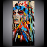 화포 예술은 인도 사람에 의하여 깃털을 단 색칠 화포 인쇄 룸 장식 인쇄 포스터 그림 화포 벽 예술 Mc 002를 인쇄했다