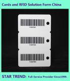 Drei in einer Karte mit Barcode für Einkaufen-Speicher