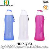 bottiglia di acqua corrente di plastica di compressione 750ml, bottiglia di acqua di sport della plastica di silicone (HDP-3084)