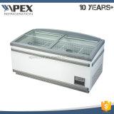 1100liter Supermercado Cofre Freezer para Marisco Fruit Store com Alta Qualidade