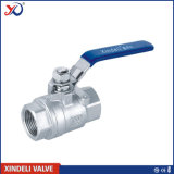 robinet à tournant sphérique fileté par femelle élevée de plate-forme de l'acier inoxydable 2PC