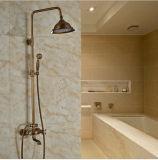 Ensemble de robinet de douche en laiton antique en laiton de salle de bains avec douchette à douchette