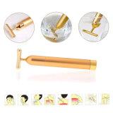 24k barra de la belleza de la dimensión de una variable del oro T para el Massager eléctrico del uso del hogar del rejuvenecimiento de la piel
