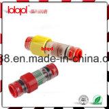 Conetor impermeável Lbk 8/6mm do bloco do conetor/gás da fibra óptica