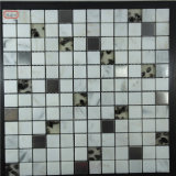 Mosaico di pietra Mixed inossidabile di figura del quadrato di colore della fronte per la parete interna