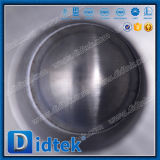 Válvula de esfera pneumática petroquímica da maneira do aço de carbono 3 de Didtek Wcb