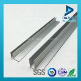 6063 Perfil T5 de aluminio del gabinete de cocina riel de aluminio con acabado laminado
