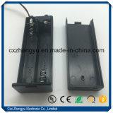 Batteriehalterung 2AA mit den Jst-pH2.0-2p Verbinder-roten/schwarzen Leitungen, Deckel und Schalter