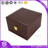 Лидирующий изготовленный на заказ Handmade кожаный поставщик коробки подарка ювелирных изделий