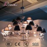 Moderner Gewebe-Farbton-hängende Glaslampe für Luxushotel-Raum
