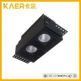 Projector Recessed da grade do diodo emissor de luz do CREE 7wx2 luz quadrada