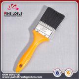 Pista material negra de la alta calidad PBT con el cepillo de pintura plástico amarillo de la maneta