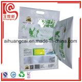 Kundenspezifisches Firmenzeichen-Essen-verpackender unterer flacher Aluminiumfolie-Beutel