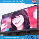 전시 구조 게시판을 광고하는 HD 풀 컬러 P10 옥외 조정 Viedo