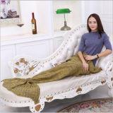 Cobertor portátil adulto popular do algodão da sereia
