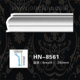 Corniche de moulage de polyuréthane d'unité centrale pour la décoration Hn-8561 de plafond