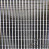75D 270t 물 & 바람 저항하는 옥외 아래로 운동복 재킷에 의하여 길쌈되는 격자 무늬 자카드 직물 100%년 폴리에스테 까만 털실 필라멘트 직물 (FJ019)