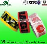 Alta calidad BOPP impreso insignia de encargo pila de discos la cinta adhesiva