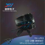 18PCS RGBW 4 in 1 PARITÀ LED 10W impermeabile DJ bastona l'efficace indicatore luminoso della fase
