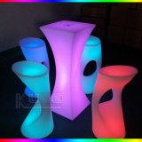 Bar Set Multicolor Cambiador LED Bar Mesas Bar Chairs