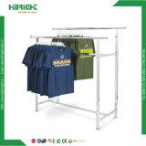 Double Straight-Rod Adjustable Height Garment Rack