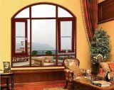 Jolihouse couleur personnalisée double vitre trempé fenêtre en aluminium battant