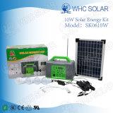 10W multifuncionales Kit de iluminación solares domésticos recargables pequeño