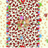 100% Polyester Cartoon Bear Pigment & Disperse Tissu Imprimé pour Ensemble de Literie