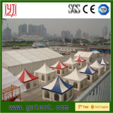 Pagoda provisoire annonçant la tente à vendre