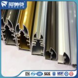 Profilo di alluminio di Electrophresis di colore dell'oro della fabbrica di iso per costruzione
