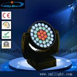 DJ 장비 36X18W UV 급상승 세척 LED RGBWA UV 이동하는 맨 위 빛 6in1 LED 수성 페인트 급상승 이동하는 헤드