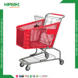 180L de plástico Carrito de compras de supermercado