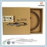 Caja de papel artesanal con cajón deslizante