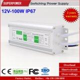 일정한 전압 12V 100W LED 방수 엇바꾸기 전력 공급 IP67