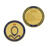 Design especial esmalte Metal Loja Desafio Emblema de recolha de moedas funcionais