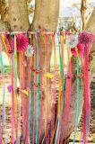 Сатинировки партии цветов высокого качества тесемка различной курчавая