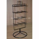 Стеллаж для выставки товаров закручивать металла пола стоящий с вешалкой крюков (PHY2056)