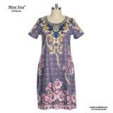 Miss You Ailinna 300824 mujeres de origen Alineada de la impresión floral